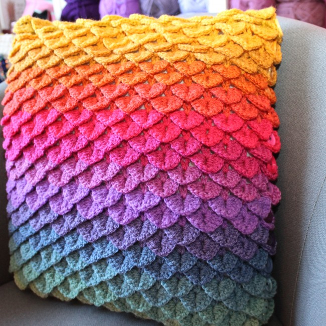 Rainbow Crocodile Cushion